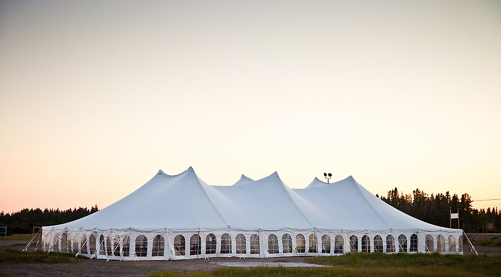 How corporate events are supported by corporate tents?